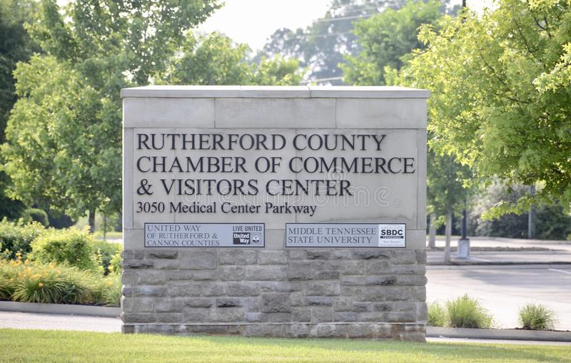 Rutherford County Visitors Center, Murfreesboro, TN stock image