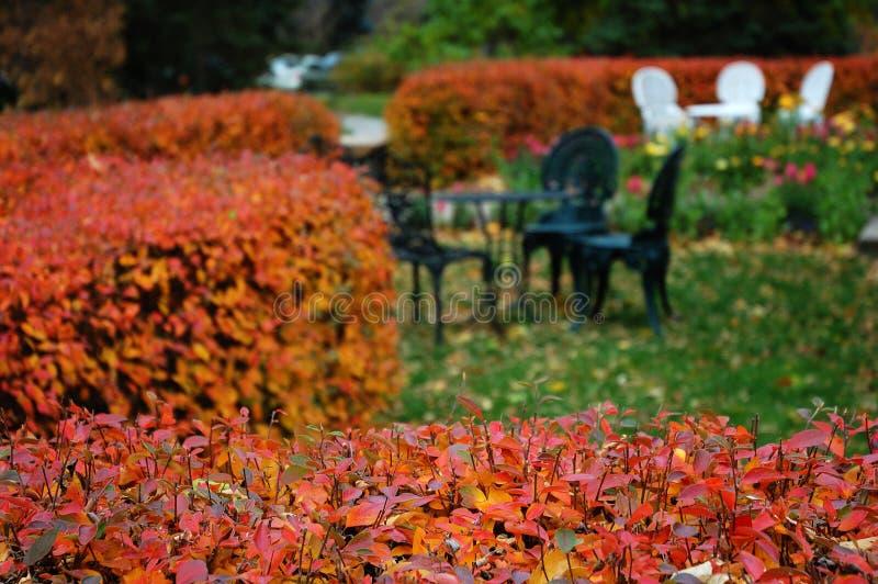 rutherford ogrodu jesieni domu zdjęcie royalty free