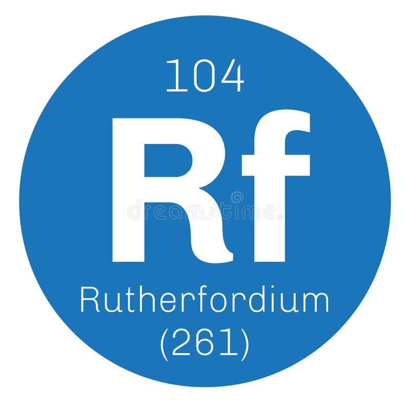 Rutherfordium chemisch element stock illustratie