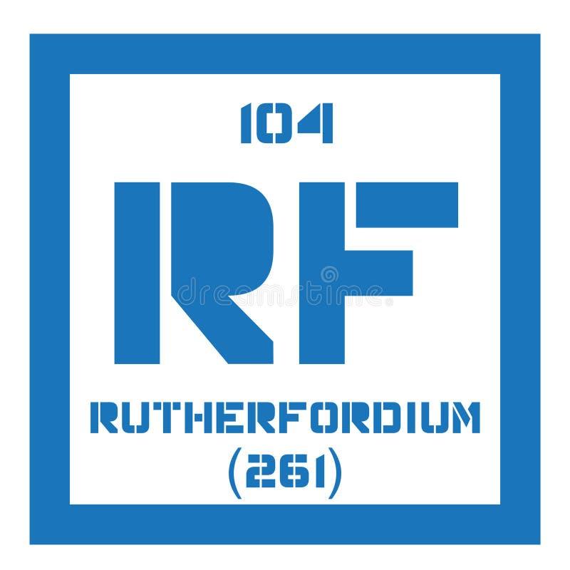 Rutherfordium chemisch element vector illustratie