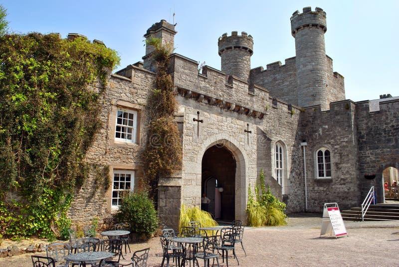 Ruthin-Schloss in Nord-Wales lizenzfreie stockfotos