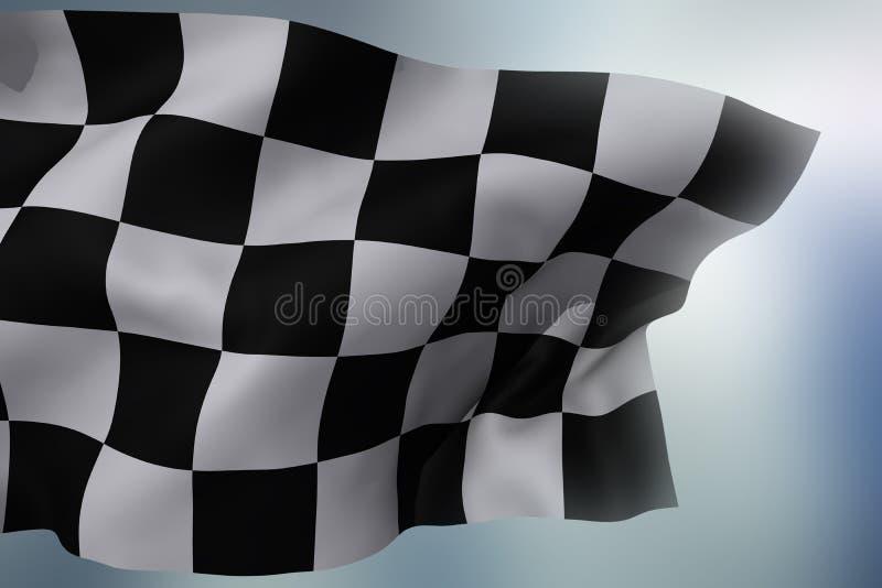 rutig flagga arkivfoto