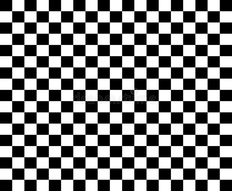 Rutig flaggamall - svartvita springa flaggor arkivfoton