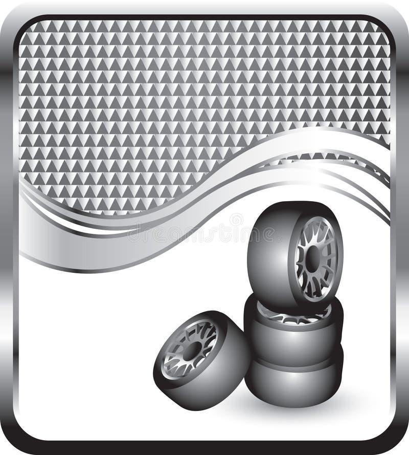 rutig gummihjulwave för bakgrund stock illustrationer