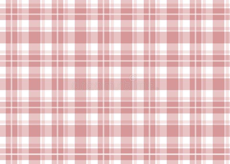 rutig röd tablecloth royaltyfri illustrationer