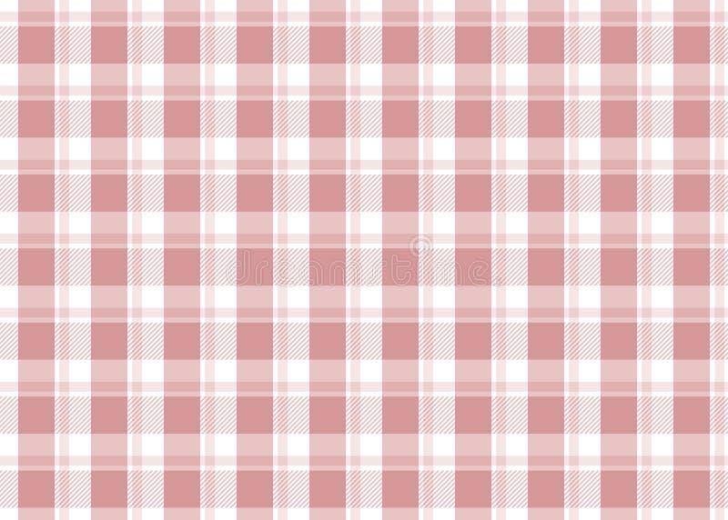 rutig röd tablecloth vektor illustrationer