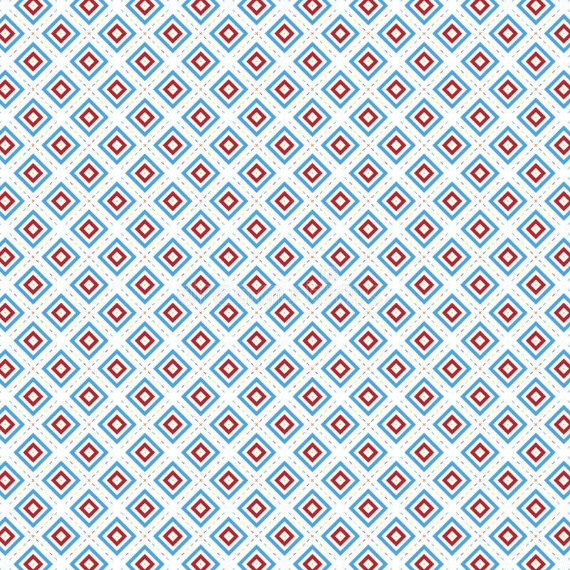 Rutig Retro pop Art Colors Squares Geometric Pattern stock illustrationer