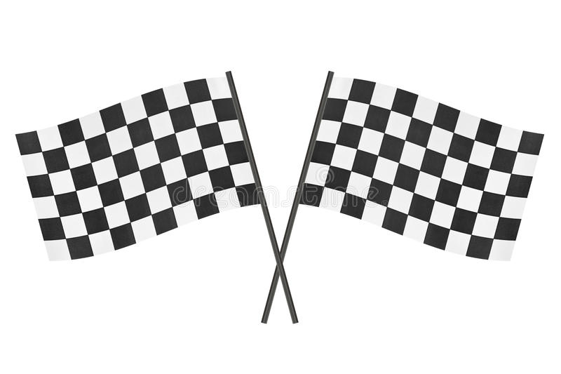 rutiga flaggor royaltyfri bild