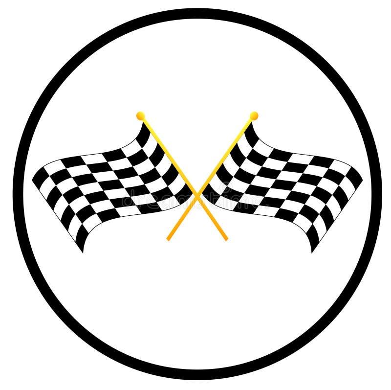 rutiga flaggor royaltyfri illustrationer