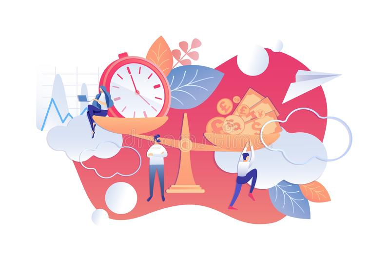 Rutina diaria eficaz de los principios de organización ilustración del vector