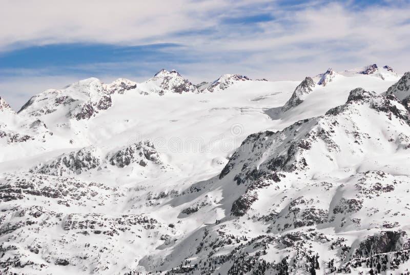 Rutor glaciär royaltyfri foto