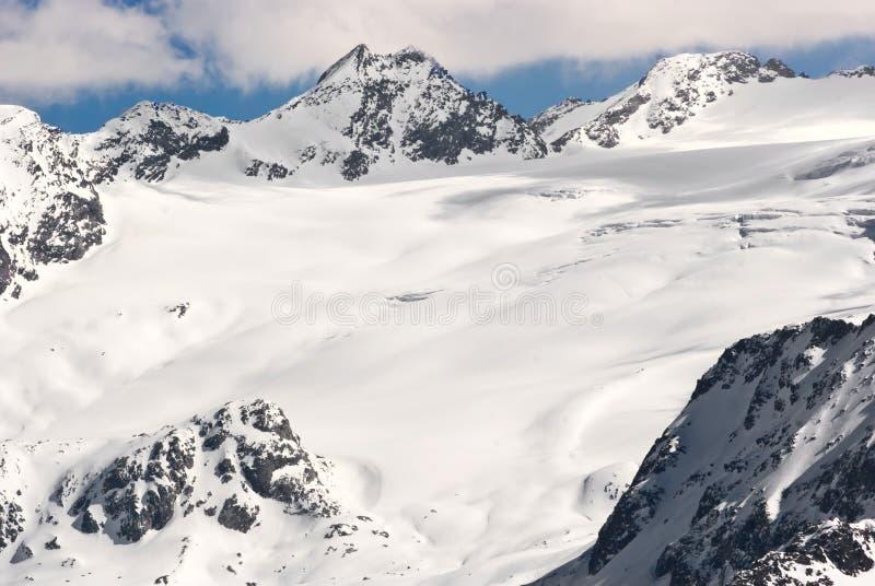 Rutor glaciär royaltyfria foton