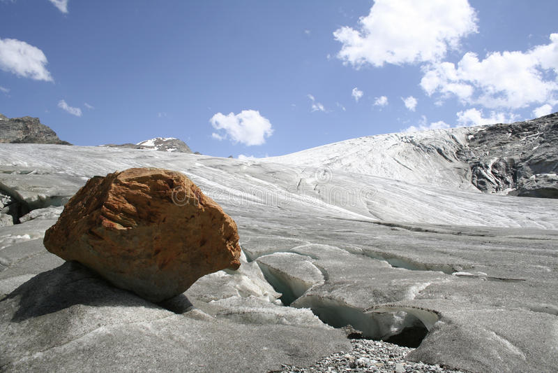 Rutor Gletscher stockfotos
