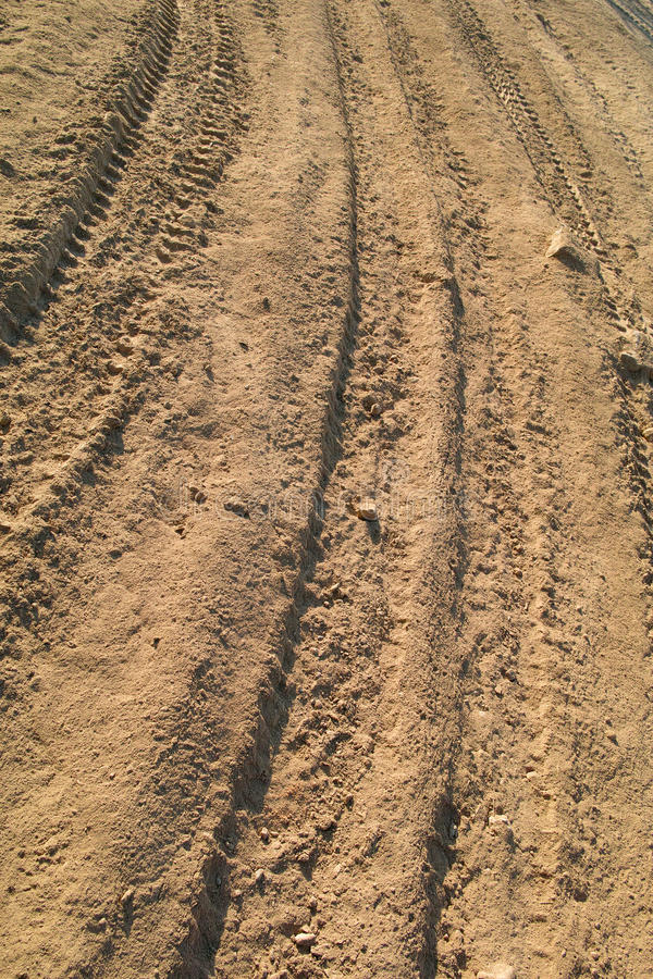 Ruts. The close-up of ruts on dust royalty free stock image