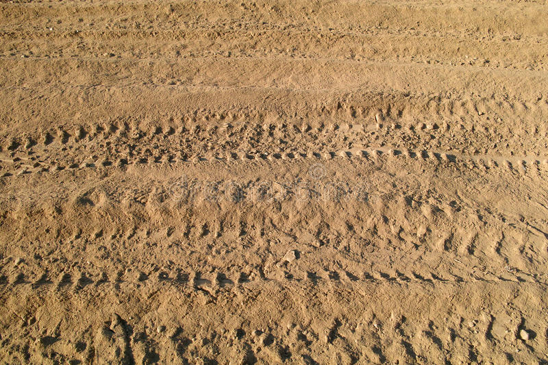 Ruts. The close-up of ruts on dust stock photography