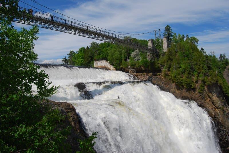 Rutsch-Montmorency-Wasserfall stockfoto