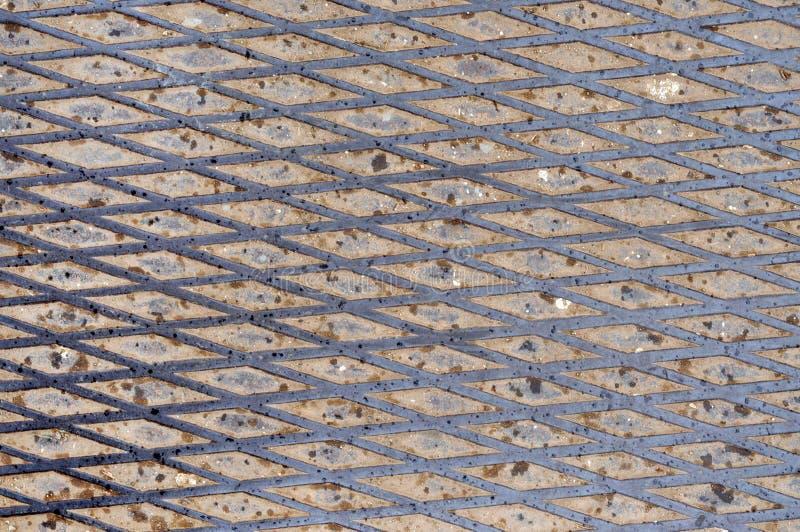 Rutschfester kratzender Schrittstahlhintergrund stockfotos