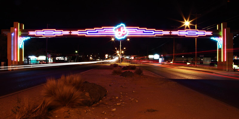 Rutt 66 Albuquerque royaltyfri foto