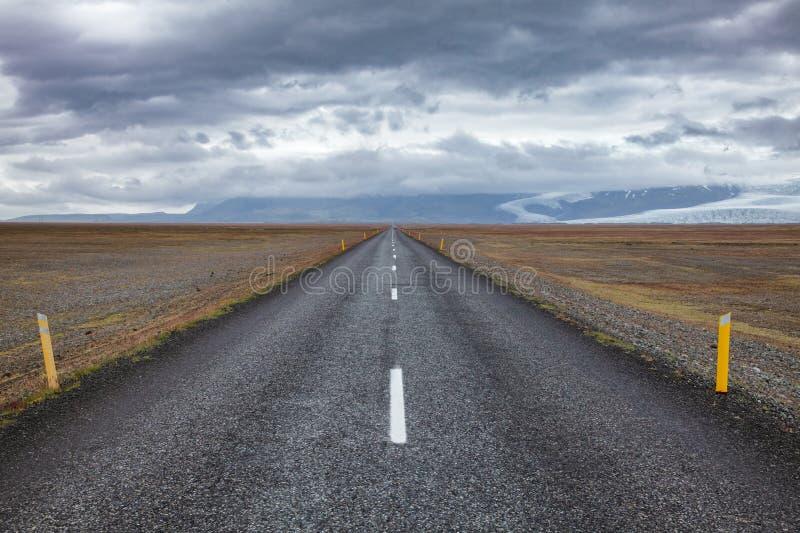 Rutt 1 Ring Road Eastern Iceland Scandinavia royaltyfri bild