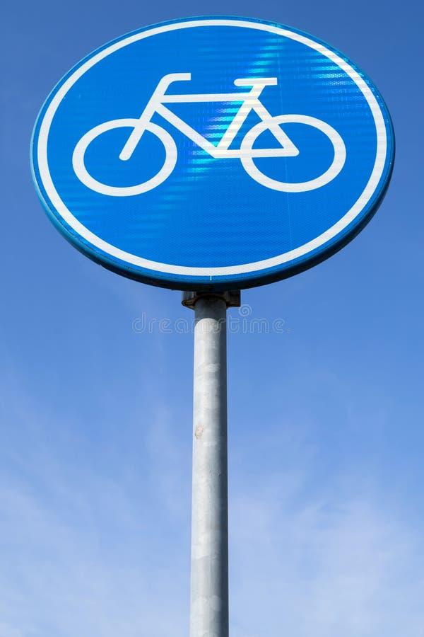 Rutten för pedal cyklar endast arkivbild
