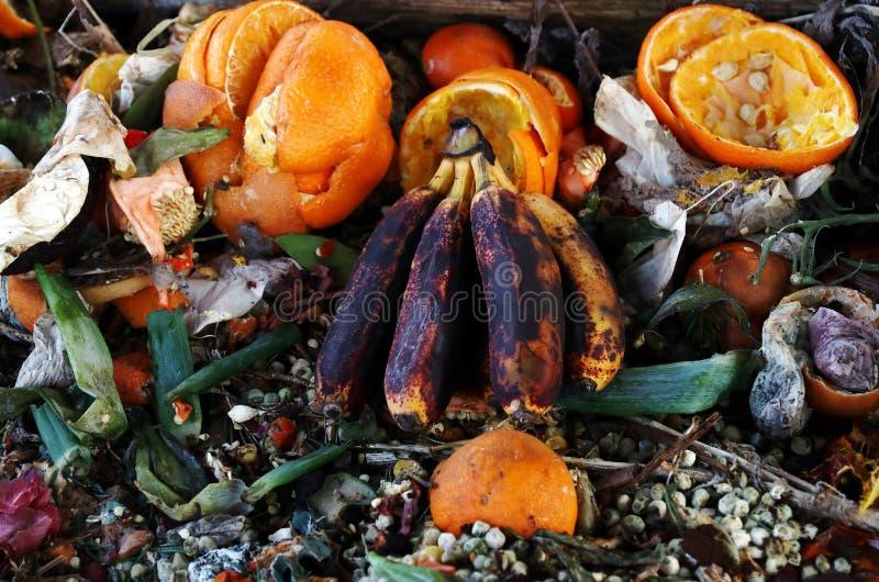 Ruttna gamla frukt och grönsaker royaltyfria bilder