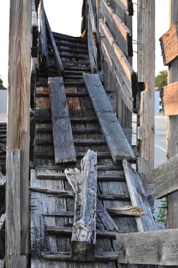 Ruttna nötkreaturramper på Fort Worth materielgårdar arkivbild