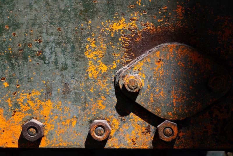 Ruty-Eisenplatte mit Beschaffenheit und Fettschrift stockfotografie