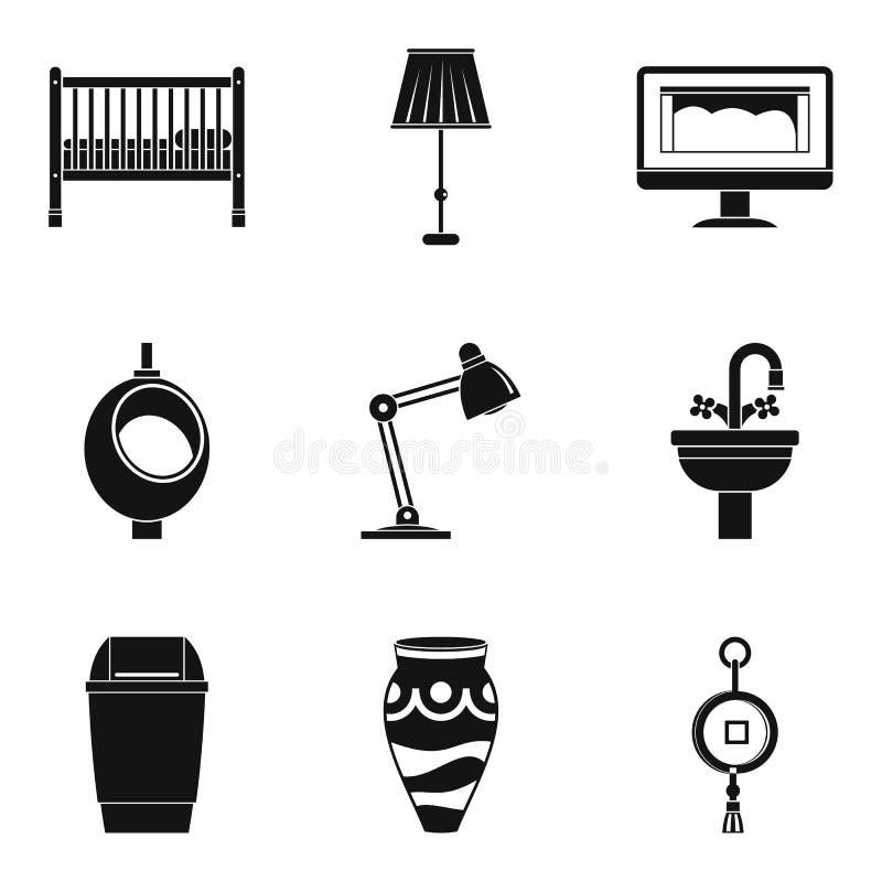 Rutynowe akcydensowe ikony ustawiać, prosty styl ilustracja wektor