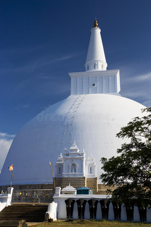 Ruvanveli Dagoba, Anuradhapura, Sri Lanka photos libres de droits