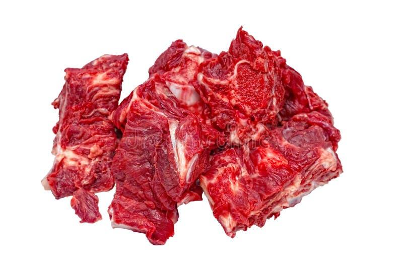 Ruw buiten rond rundvleesbraadstuk stock fotografie
