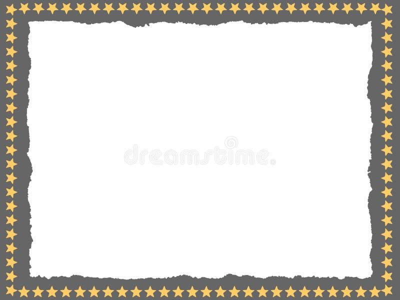 Ruw frame met sterren stock illustratie