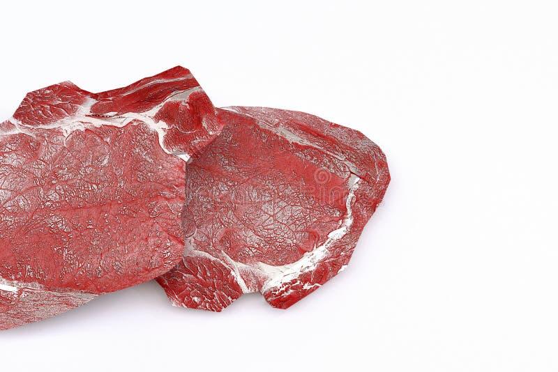Ruw geïsoleerdm vlees stock illustratie