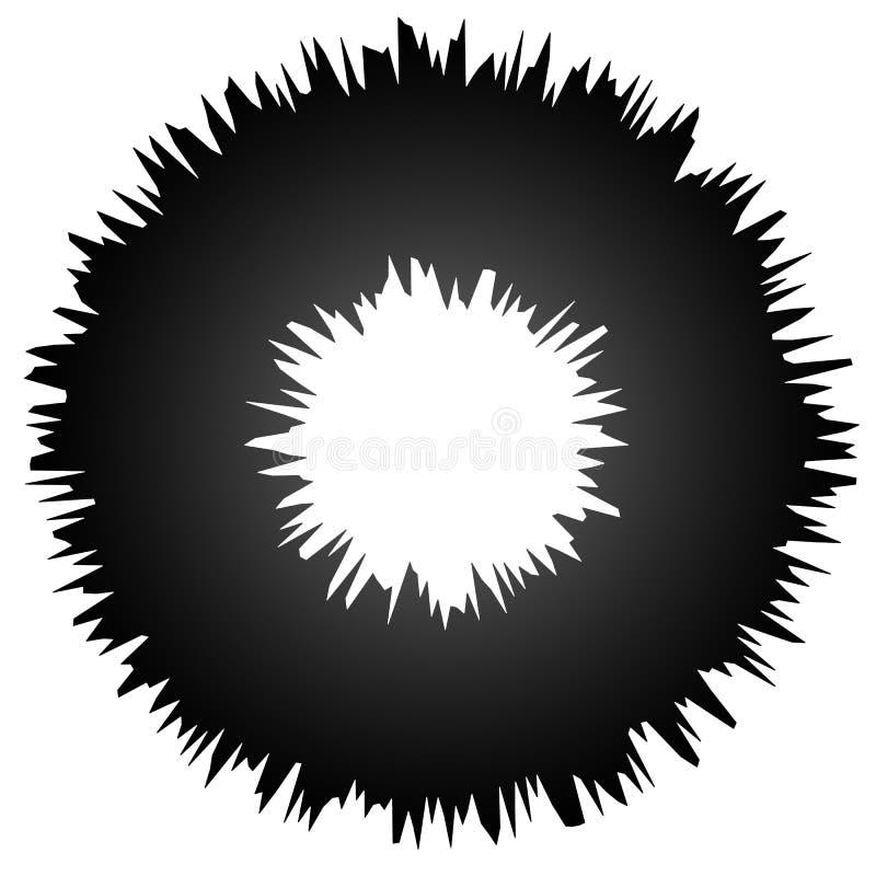 Ruw grungy abstract cirkelelement, cirkel vervormde ring, D royalty-vrije illustratie