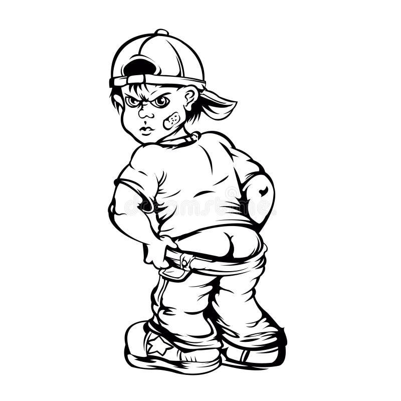 Ruw jongensbeeldverhaal vector illustratie
