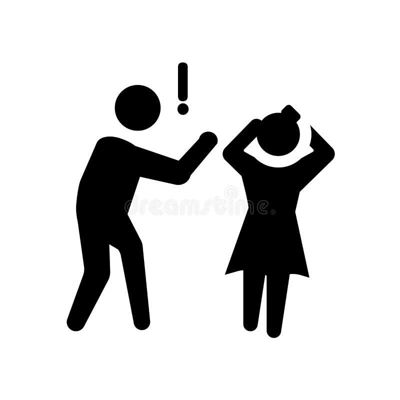 ruw menselijk pictogram In ruw menselijk embleemconcept op witte backg stock illustratie