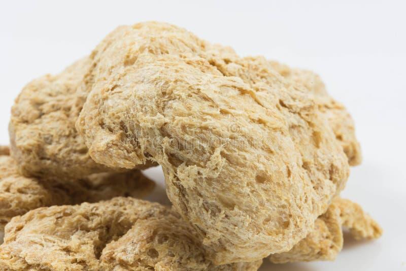 Ruw ontwaterd sojavlees royalty-vrije stock fotografie