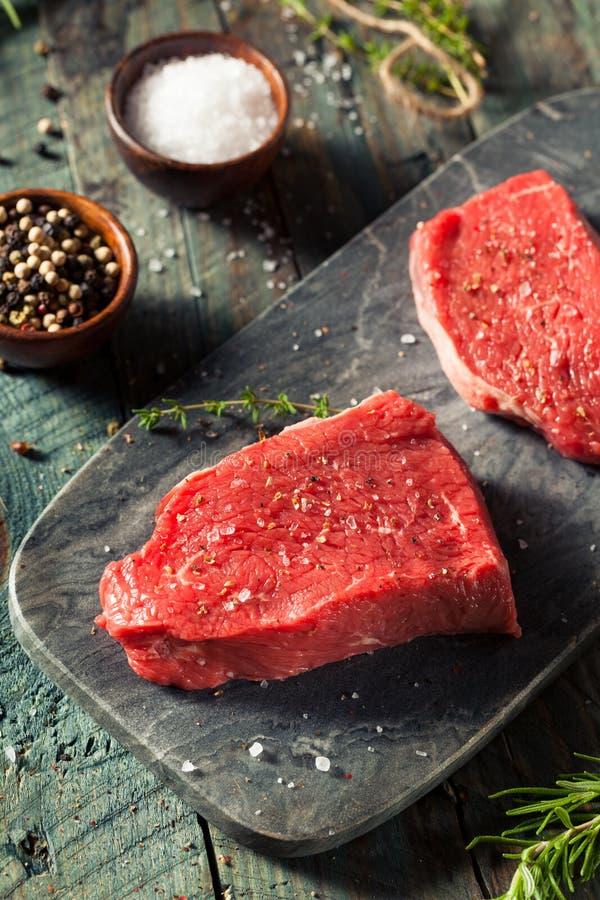 Ruw Organisch Gras Fed Sirloin Steak royalty-vrije stock afbeelding