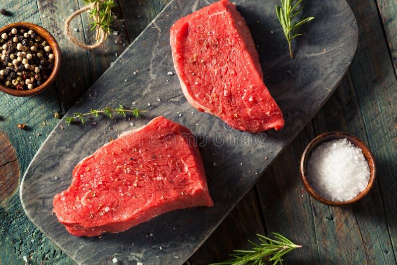 Ruw Organisch Gras Fed Sirloin Steak stock foto's