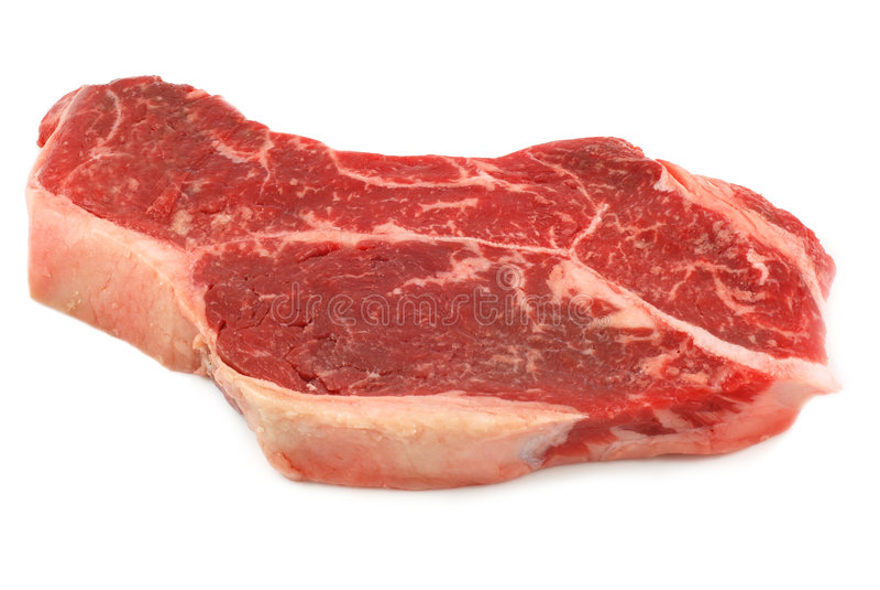 Ruw rundvleeslapje vlees royalty-vrije stock foto