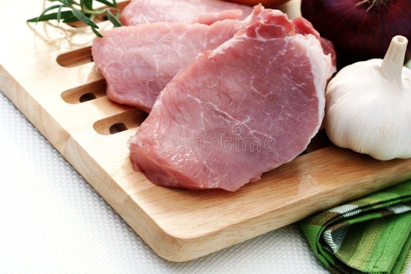 Ruw varkensvlees stock foto