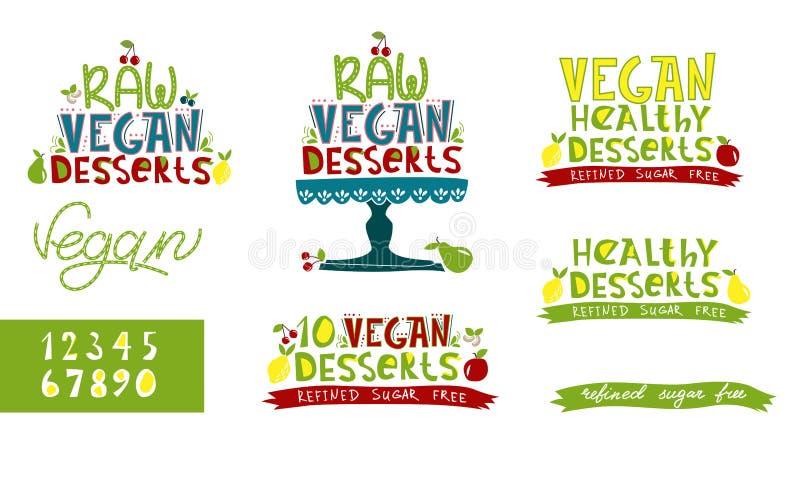 Ruw veganistdessert vector illustratie
