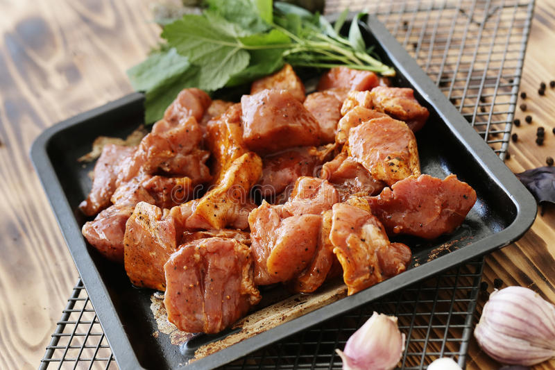 Ruw vlees stock afbeelding