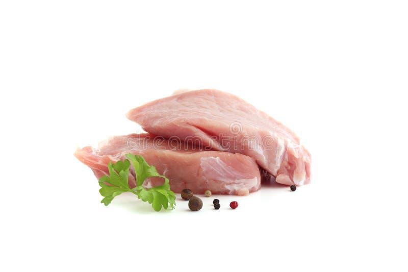 Ruw vlees op witte achtergrond royalty-vrije stock fotografie
