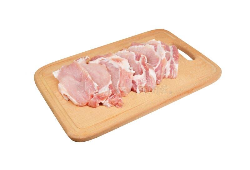 Ruw vleeslapje vlees stock afbeelding