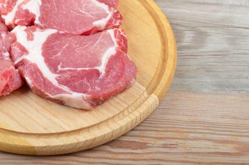 Ruw vleeslapje vlees stock foto