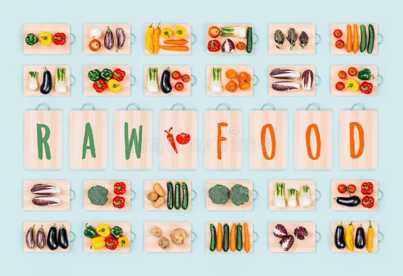 Ruw voedsel en gezonde groenten royalty-vrije stock fotografie