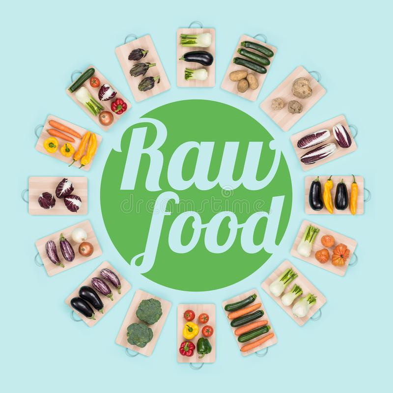 Ruw voedsel en het gezonde eten royalty-vrije stock afbeelding