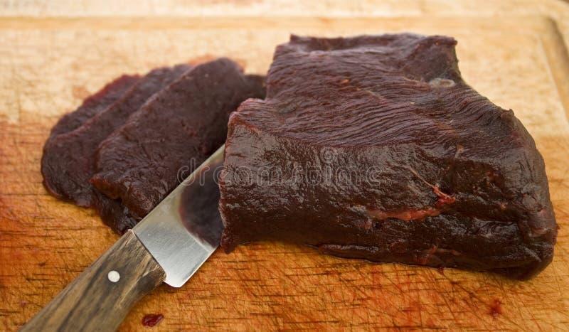 Ruw walvisvlees royalty-vrije stock afbeeldingen