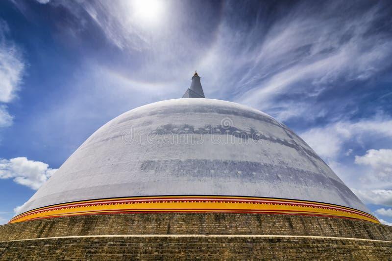 Ruwanwelisaya stupa在阿努拉德普勒神圣的站点,斯里兰卡 图库摄影