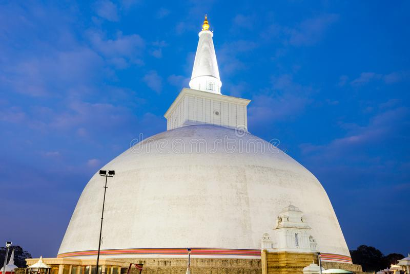 Ruwanwelisaya stupa在阿努拉德普勒,斯里兰卡 库存照片